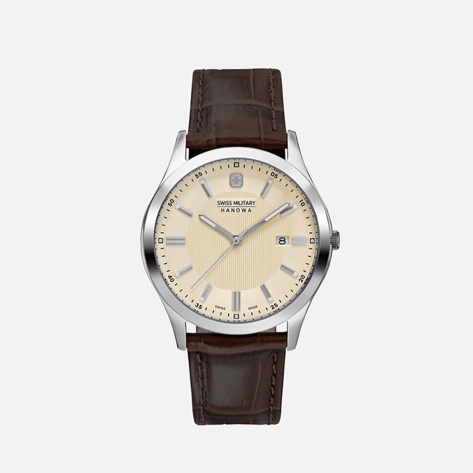 Мужские наручные часы Swiss Military Hanowa Lieutenant Silver/Beige