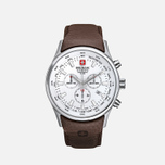 Мужские наручные часы Swiss Military Hanowa Navalus Chrono Silver/White фото- 0
