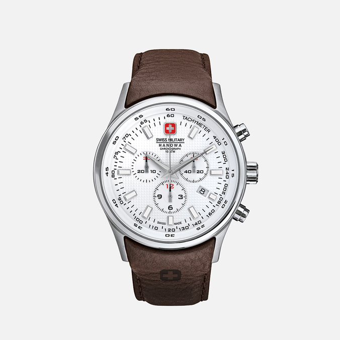 Мужские наручные часы Swiss Military Hanowa Navalus Chrono Silver/White