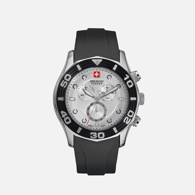 Мужские наручные часы Swiss Military Hanowa Oceanic Chrono Black/Silver