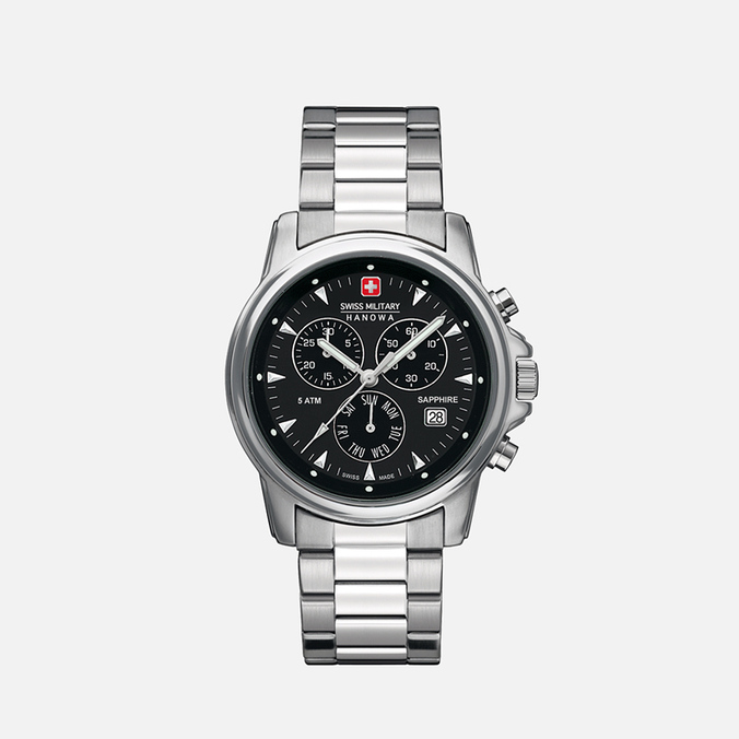 Мужские наручные часы Swiss Military Hanowa Swiss Recruit Chrono Silver/Black