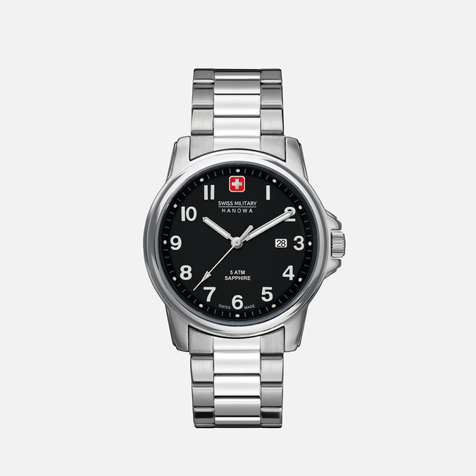 Мужские наручные часы Swiss Military Hanowa Swiss Soldier Silver/Black