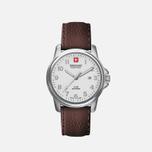 Мужские наручные часы Swiss Military Hanowa Swiss Soldier Silver/White/Brown фото- 1