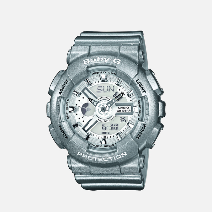 Женские наручные часы CASIO Baby-G BA-110-8AER Silver