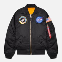 Женская куртка бомбер Alpha Industries MA-1 NASA Black