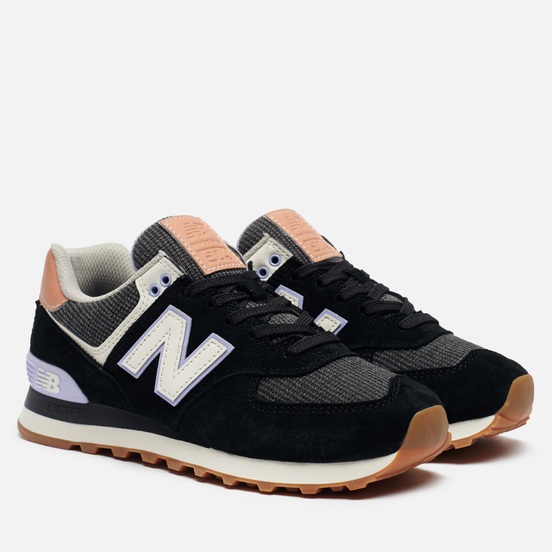 Женские кроссовки New Balance WL574BCX Black/Mystic Purple
