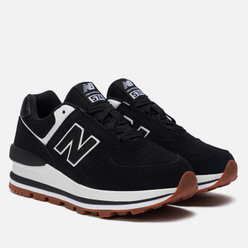 Женские кроссовки New Balance WL574CAF Platform Dark Grey/Black