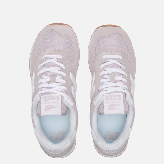 Женские кроссовки New Balance WL574PA2 Pink/White