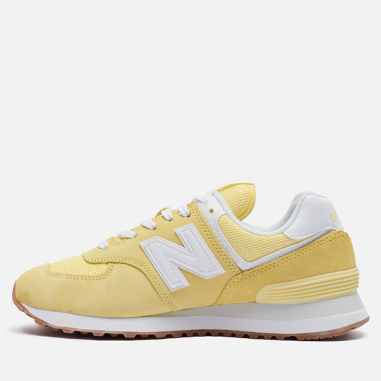 Женские кроссовки New Balance WL574PK2 Yellow/White