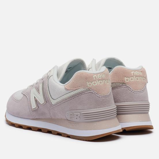 Женские кроссовки New Balance WL574SAX Pink/Beige/White