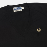 Женский свитер Fred Perry Laurel Classic V Neck Black фото- 1