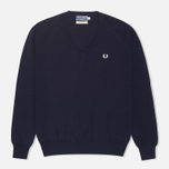 Женский свитер Fred Perry Laurel Classic V Neck Navy фото- 0