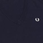 Женский свитер Fred Perry Laurel Classic V Neck Navy фото- 2