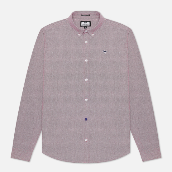 Мужская рубашка Weekend Offender Pallomari Cotton Oxford Garnet