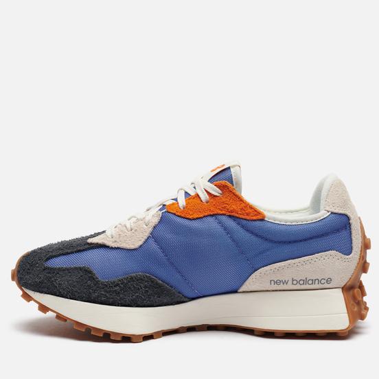Женские кроссовки New Balance 327 70s Inspired Magnetic Blue/Varsity Orange