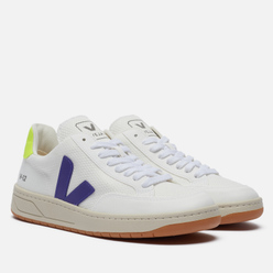 Женские кроссовки VEJA V-12 B-Mesh White/Purple/Jaune Fluo