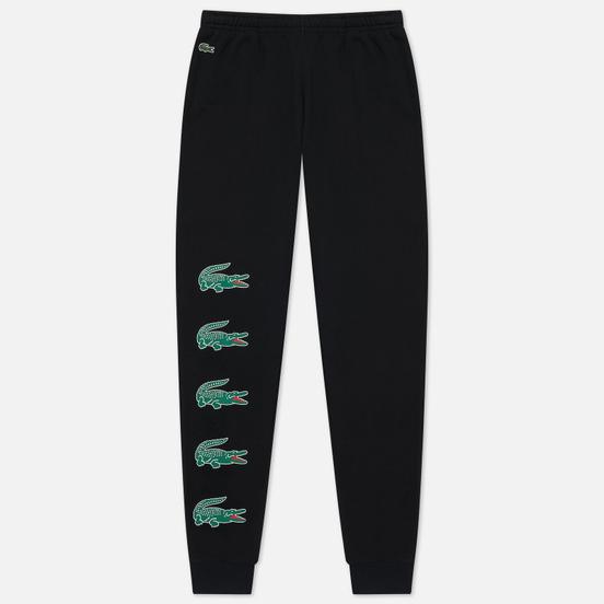 Мужские брюки Lacoste Sport Crocodile Print Fleece Black