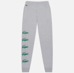 Мужские брюки Lacoste Sport Crocodile Print Fleece Grey Chine