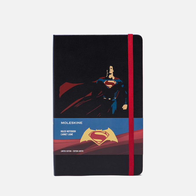 Записная книжка Moleskine Batman vs Superman Large Limited Edition Black Superman 240 pgs