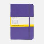 Записная книжка Moleskine Classic Large Squared Purple 240 pgs фото- 0