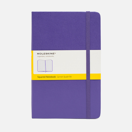 Moleskine Classic Large Squared Notebook Purple 240 pgs