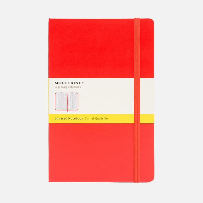Moleskine Classic Large Squared Notebook Red 240 pgs