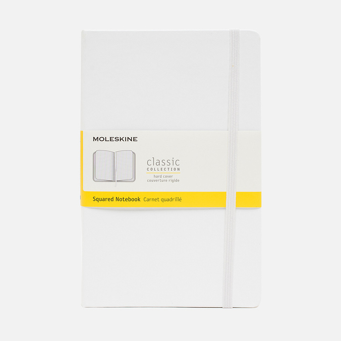 Moleskine Classic Large Squared Notebook White 240 pgs