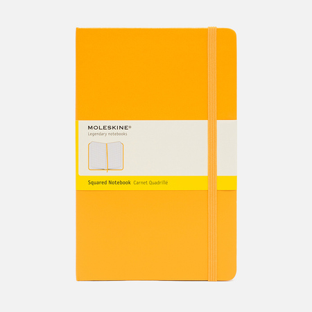 Moleskine Classic Large Squared Notebook Yellow 240 pgs