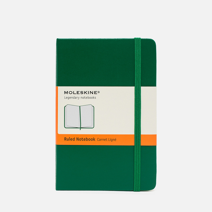 Moleskine Classic Pocket Line Notebook Green 192 pgs