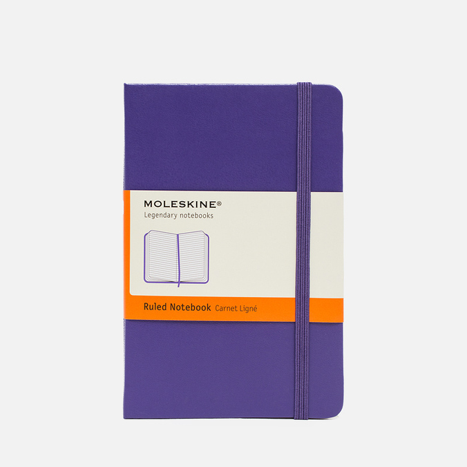 Moleskine Classic Pocket Line Notebook Purple 192 pgs