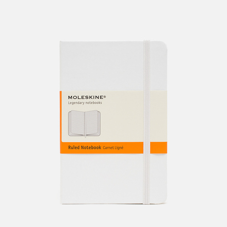 Moleskine Classic Pocket Line Notebook White 192 pgs