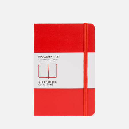 Moleskine Classic Pocket Notebook Red 192 pgs