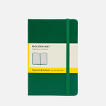Moleskine Classic Pocket Squared Notebook Green 192 pgs photo- 0