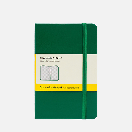 Moleskine Classic Pocket Squared Notebook Green 192 pgs