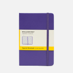 Записная книжка Moleskine Classic Pocket Squared Purple 192 pgs фото- 0