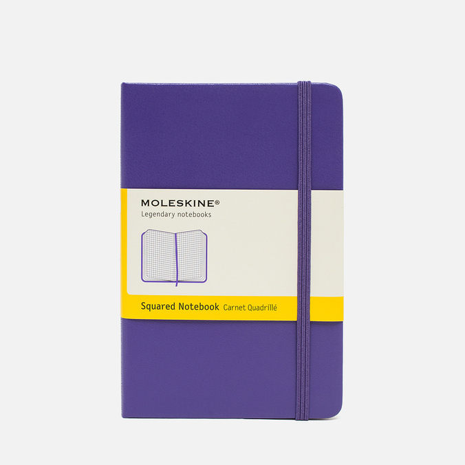 Записная книжка Moleskine Classic Pocket Squared Purple 192 pgs