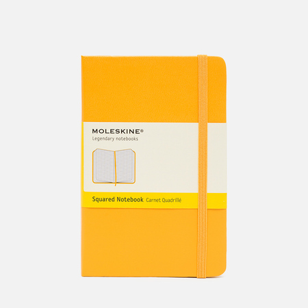 Moleskine Classic Pocket Squared Notebook Yellow 192 pgs
