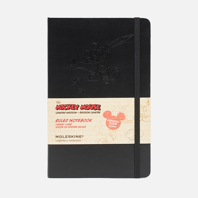 Записная книжка Moleskine Mickey Mouse Large Black 240 pgs