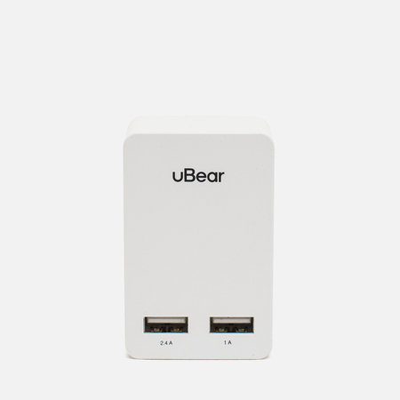 uBear Dual USB Wall 3.4 A Battery Charger White