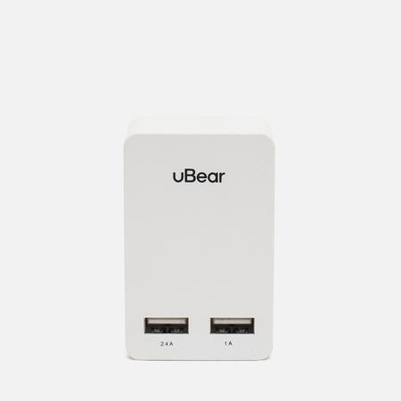 Зарядное устройство uBear Dual USB Wall 3.4 A White