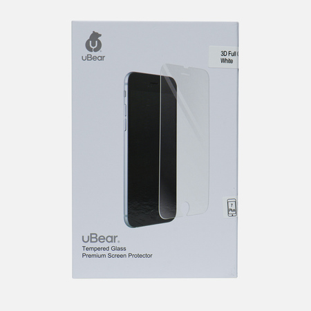 Защитное стекло uBear 3D Full Cover iPhone 7 Plus Premium 0.33mm White