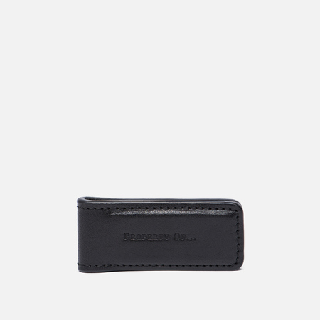 Зажим для денег Property Of... Money Clip Leather Black