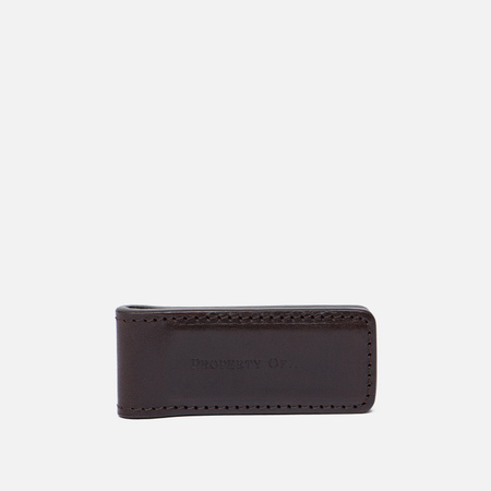 Зажим для денег Property Of... Money Clip Leather Dark Brown