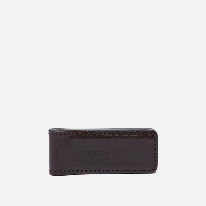 Зажим для денег Property Of... Money Clip Leather Dark Brown