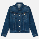 Женская джинсовая куртка Edwin W' Chanty CS Night 11 Oz Blue Mid Skim Used фото- 0