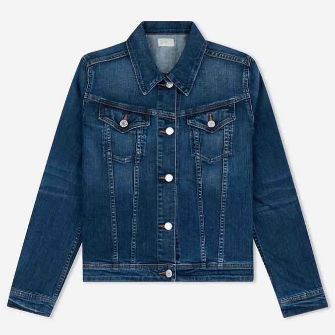 Женская джинсовая куртка Edwin W' Chanty CS Night 11 Oz Blue Mid Skim Used