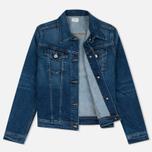 Женская джинсовая куртка Edwin W' Chanty CS Night 11 Oz Blue Mid Skim Used фото- 1