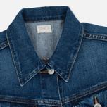 Женская джинсовая куртка Edwin W' Chanty CS Night 11 Oz Blue Mid Skim Used фото- 2