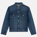 Женская джинсовая куртка Levi's Ex-Boyfriend Trucker Groovesmarks фото- 0