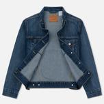 Женская джинсовая куртка Levi's Ex-Boyfriend Trucker Groovesmarks фото- 2